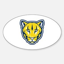 Cougar Mountain Lion Head Retro Decal