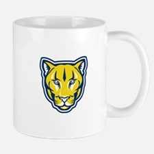 Cougar Mountain Lion Head Retro Mugs