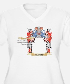 Alvaro Coat of Arms - Family Cre Plus Size T-Shirt