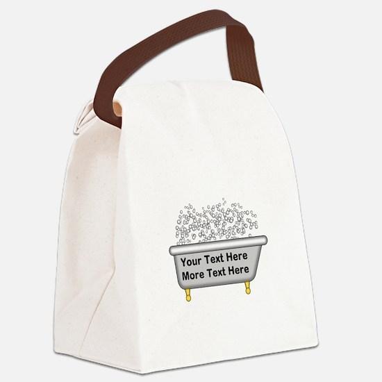 Personalized Bubble Bath Canvas Lunch Bag