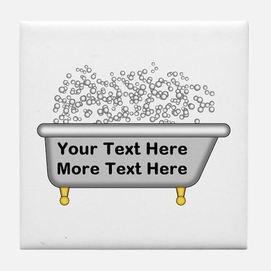 Personalized Bubble Bath Tile Coaster