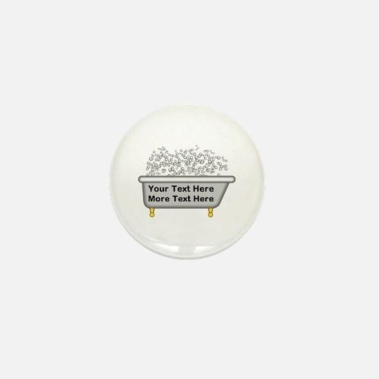 Personalized Bubble Bath Mini Button