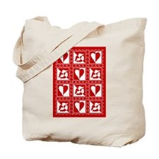 Valentine Stamps Tote Bag