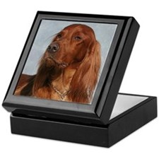 Cute Irish setter Keepsake Box