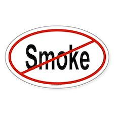SMOKE Oval Decal