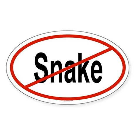 SNAKE Oval Sticker