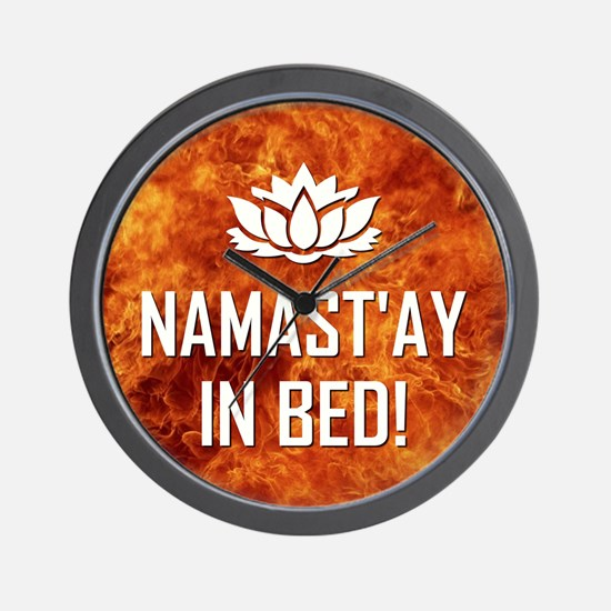 NAMASTAY IN BED! Wall Clock