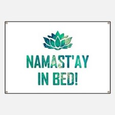 NAMASTAY IN BED! Banner