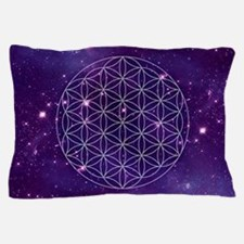 Flower Of Life Motif Pillow Case