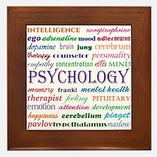 Psychology Word Cloud Framed Tile