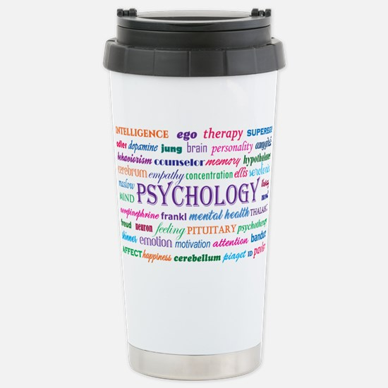 Psychology Word Cloud Travel Mug