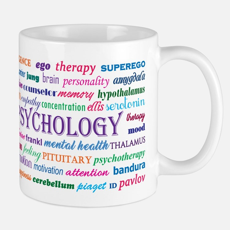 Psychology Word Cloud Mugs
