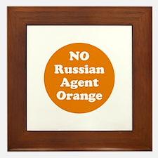 No Russian agent orange,never trump Framed Tile