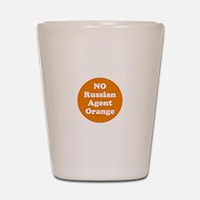 No Russian agent orange,never trump Shot Glass