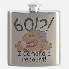 Recount 60th Birthday Flask