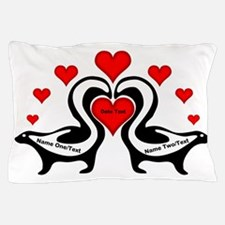 Personalized Skunks In Love Pillow Case