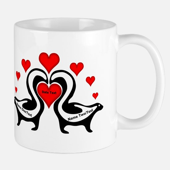 Personalized Skunks In Love Mug