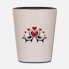 Personalized Skunks In Love Shot Glass