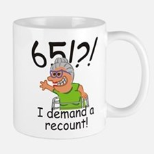Recount 65th Birthday Funny Old Lady Mugs