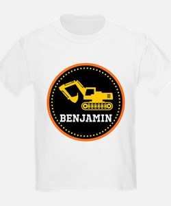 Personalized Digger Construction Truck T-Shirt