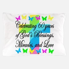 BLESSED 60TH Pillow Case