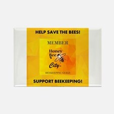 Bee Guild Rectangle Magnet Magnets