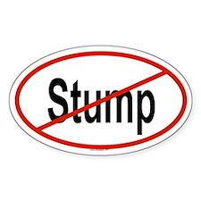 STUMP Oval Bumper Stickers