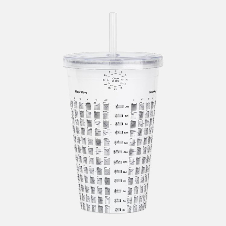 Guitar Chords Acrylic Double-wall Tumbler