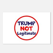 Trump not legitimate, not elected, rigged Postcard