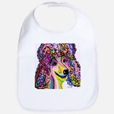 Picture Perfect Poodle Baby Bib