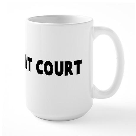 A friend at court Large Mug