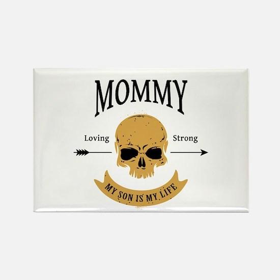 Mommy Son Skull Rectangle Magnet
