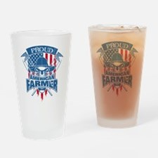 Farmer Drinking Glass