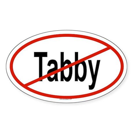 TABBY Oval Sticker