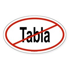 TABLA Oval Stickers