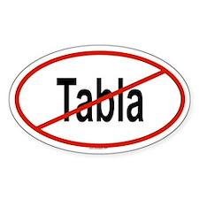 TABLA Oval Stickers
