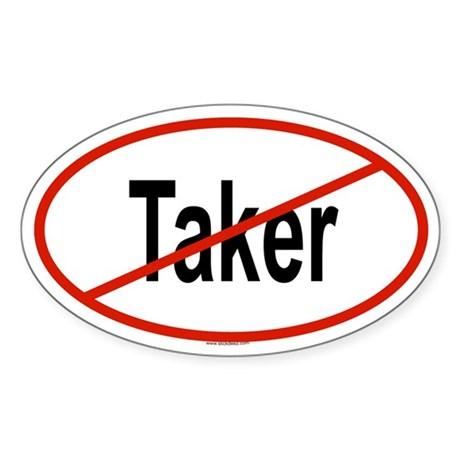 TAKER Oval Sticker