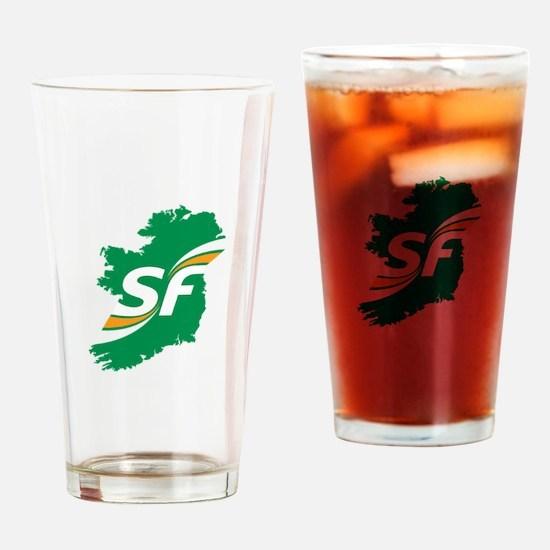 Sinn Fein Logo Drinking Glass