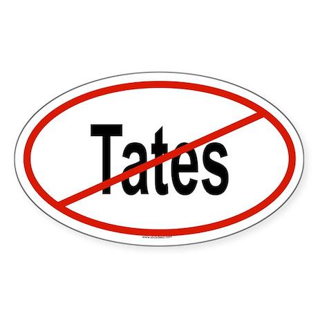 TATES Oval Sticker
