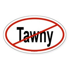TAWNY Oval Decal