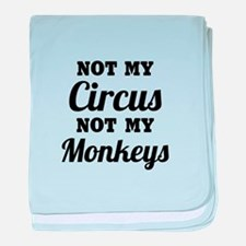 Not My Circus baby blanket