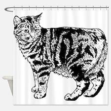 Manx Cat Shower Curtain
