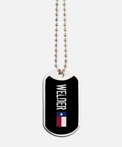 Welding: Welder (Texas Flag) Dog Tags