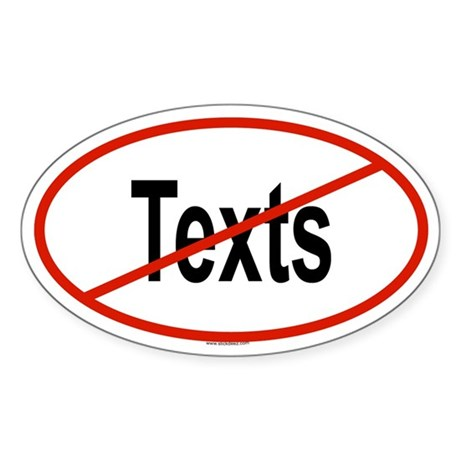 TEXTS Oval Sticker