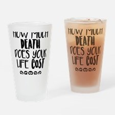 Cool Animal activism Drinking Glass