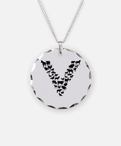 Cute Vegetarian shopping Necklace