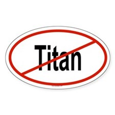 TITAN Oval Decal