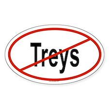 TREYS Oval Decal