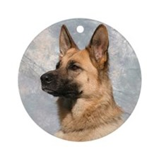 Funny German shepherd Ornament (Round)
