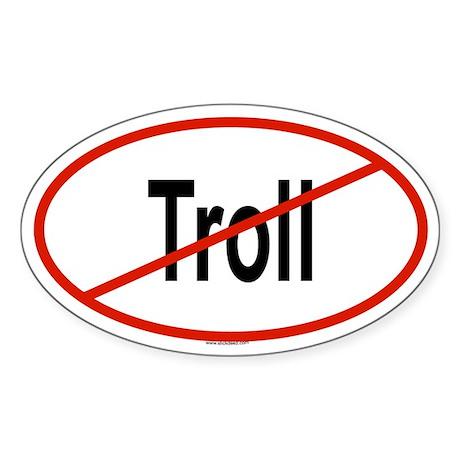 TROLL Oval Sticker